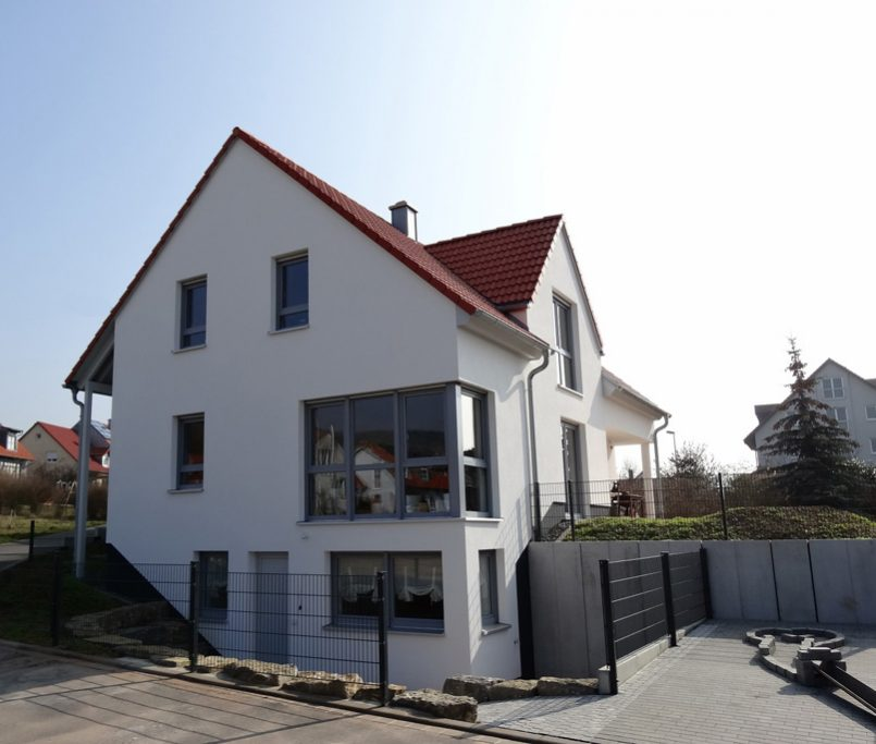 Ansicht modernes Einfamilienhaus